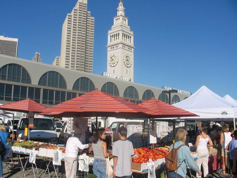 Farmers market -city view