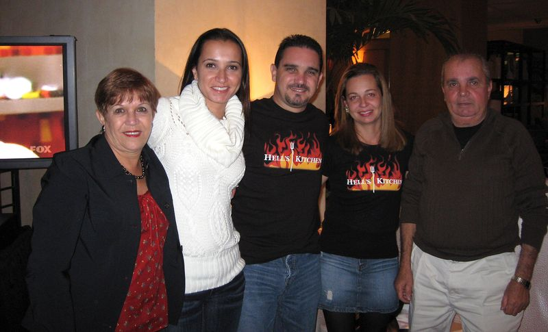 Paula and her family at the screening party